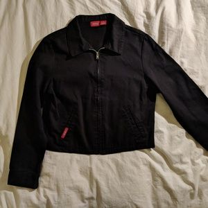 Vintage Dickies Cropped Black Canvas Jacket